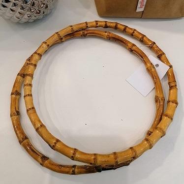 foto di coppia manici di bambù rotondi per borse